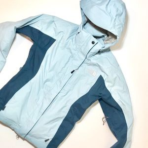 The North Face Two-Toned Blue Waterproof Jacket M